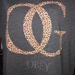 OBEY Tee Size Small Leopard OG Design
